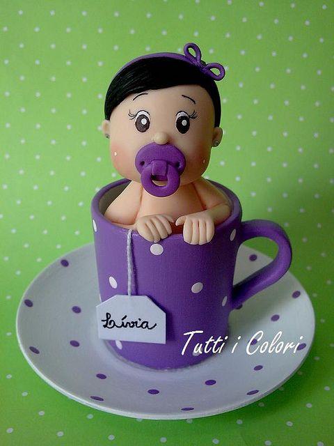 Bebê na xícara! by Tutti I Colori! Contato: mailto:debcorreia..., via Flickr