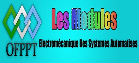 Les Modules de Technicien Spécialisé en Électromécanique Des Systèmes Automatises ( ESA ) ~ Cours D'Electromécanique