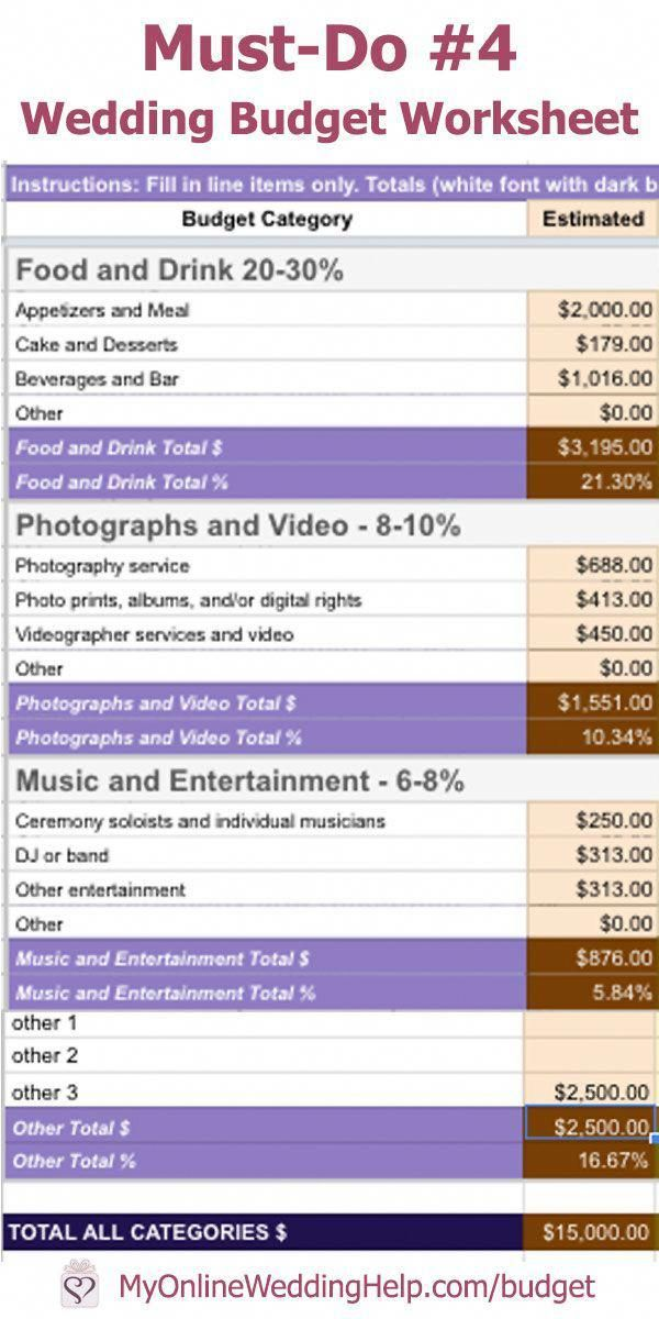 Wedding Budget Spreadsheet   Must Have Number 4   The Knot ...