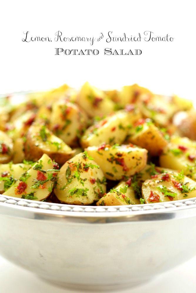 Lemon, Rosemary and Sundried Tomato Potato Salad - a simple, delicious, no Mayo potato salad that everyone loves!
