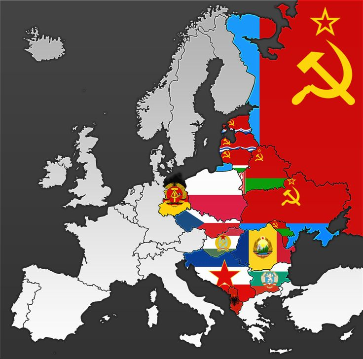 Flag Map of Europe Colored by