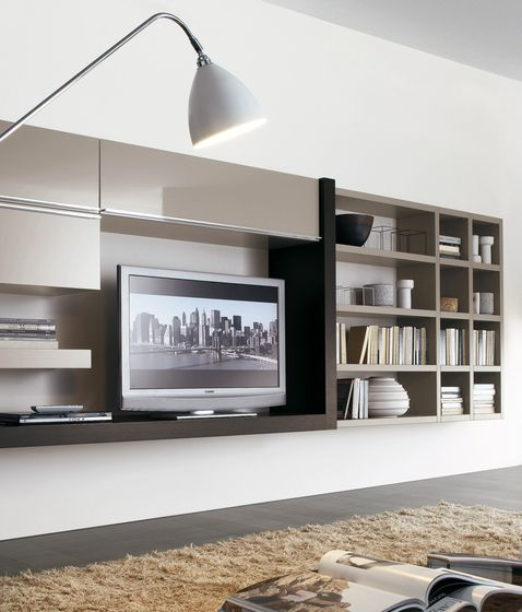 sectional wallmounted lacquered storage wall crossing misuraemme collection by misuraemme