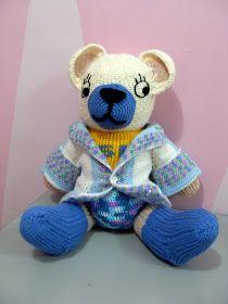 Tutorial: loom knit teddy bear (english)