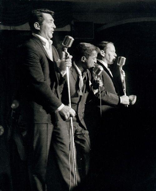 The Rat Pack on stage  Frank Sinatra, Dean Martin et Samy Davis Junior