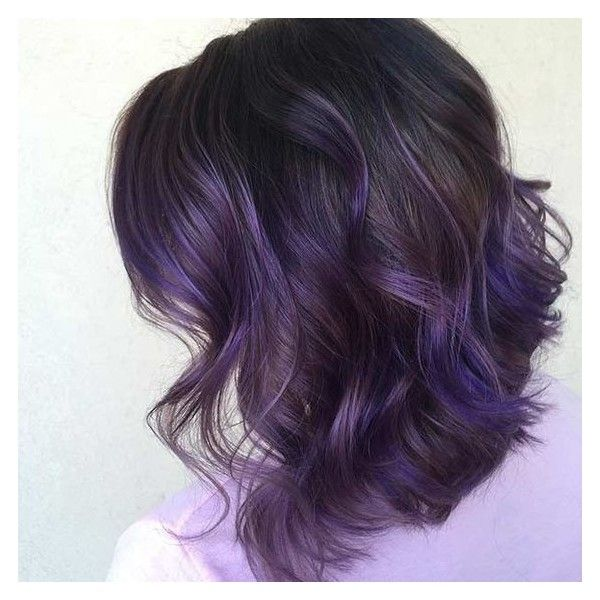 21 Looks That Will Make You Crazy for Purple Hair ❤ liked on Polyvore featuring beauty products and haircare