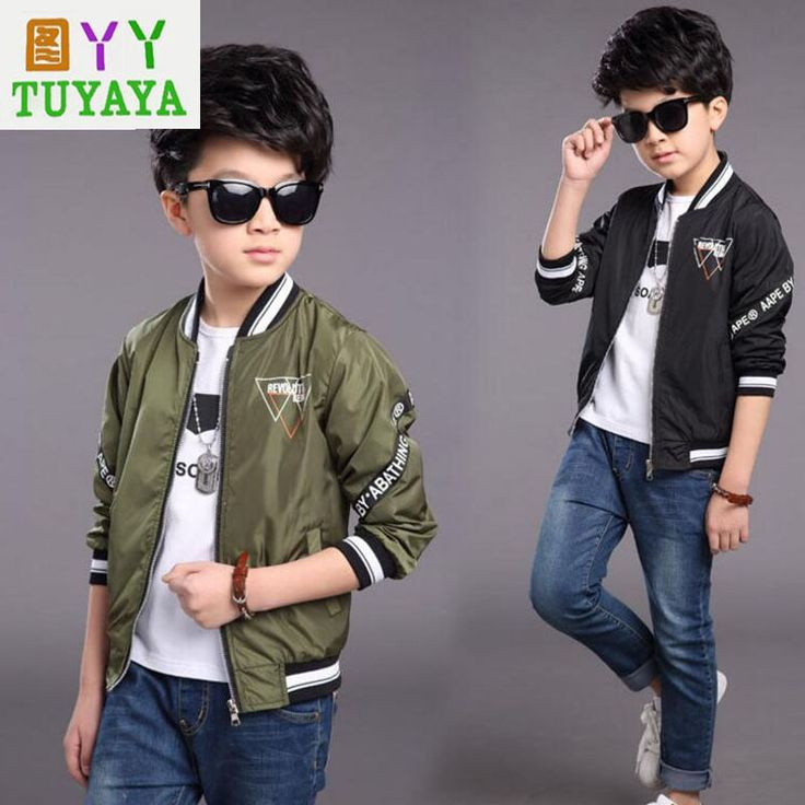 >> Click to Buy << Letter Print Boys Baseball Jackets Casual Kids Bomber Jacket Coats 4-14Y Children's Sports Outerwear Brand Boys Windbreaker #Affiliate