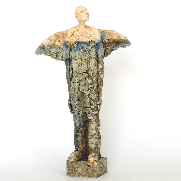 Ikarus 2.27, Ceramic Sculpture, Man of Clay, Unique Ceramic Figurine, Ceramic Figurine by arekszwed on Etsy