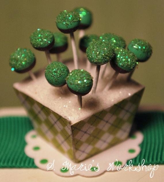 St Patrick's Day Cake Pops 1/12 scale dollhouse by SMariesWorkshop, $12.00