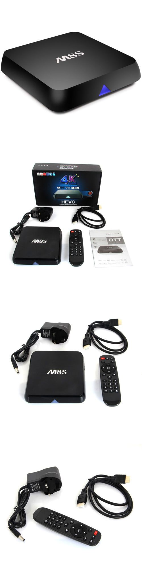 Cable TV Boxes: M8s 4K 2Gb 8Gb Quad Core Android 4.4 Smart Wifi+Bt Tv Box Fully Loaded Mini Pc BUY IT NOW ONLY: $45.99