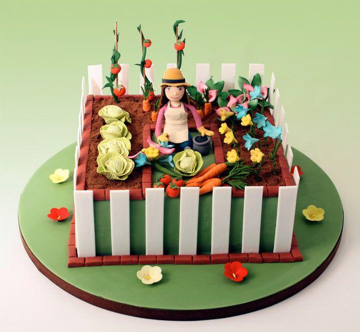 20 best Garden cake images on Pinterest Garden cakes Birthday