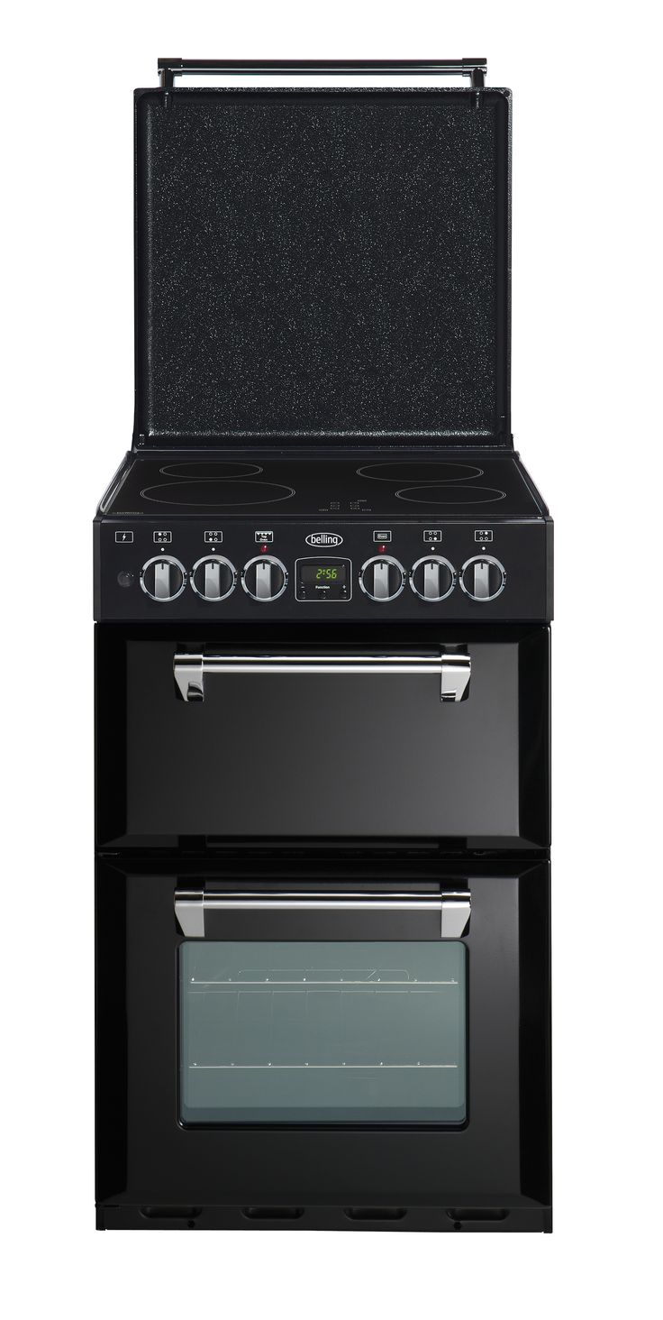 Mini Richmond 54 range cooker ceramic with electric hob - Black