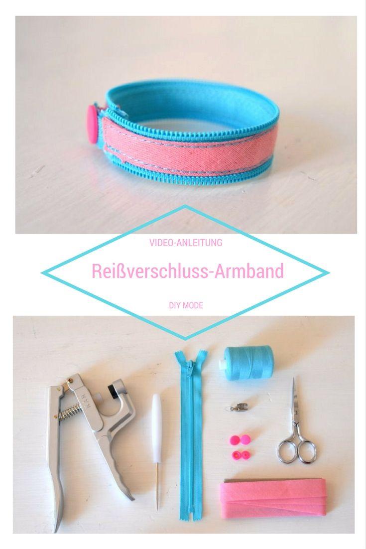 DIY Reißverschluss Armband selber machen / DIY MODE Anleitung
