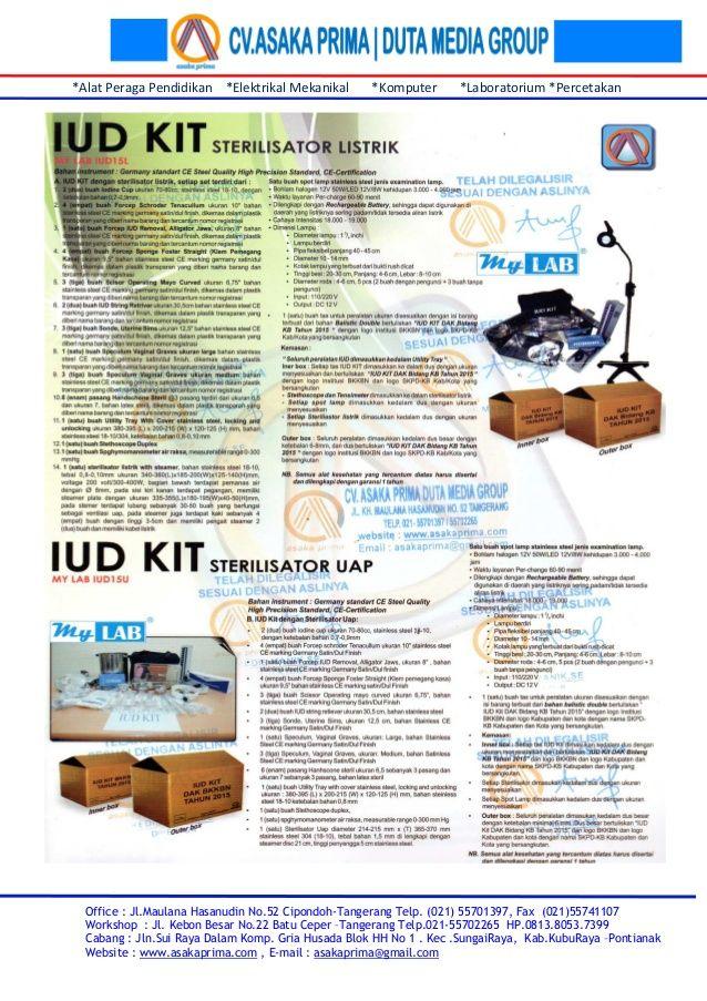 Rincian iud kit listrik & brosur iud kit non listrik bkkbn 2015