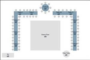 reception seatings rectangle tables with dance florr in the middle for weddings - Bing Images