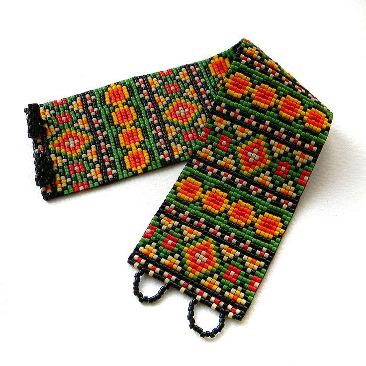 Bead bracelet - jewelry in ethnic style