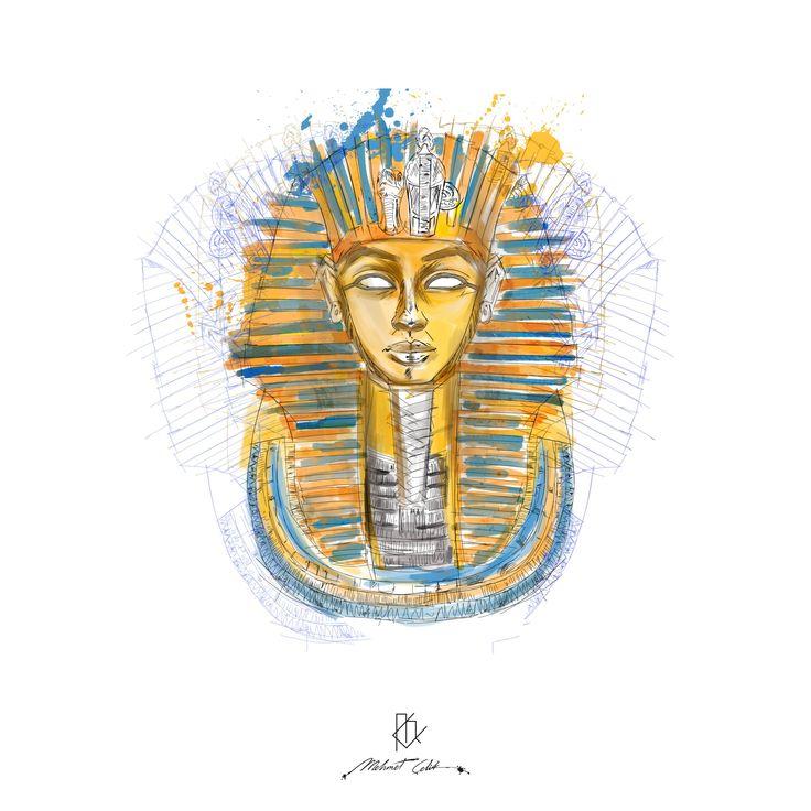 tutankamon digital art Tutankamon Tutankamon draw  Tutankamon drawing