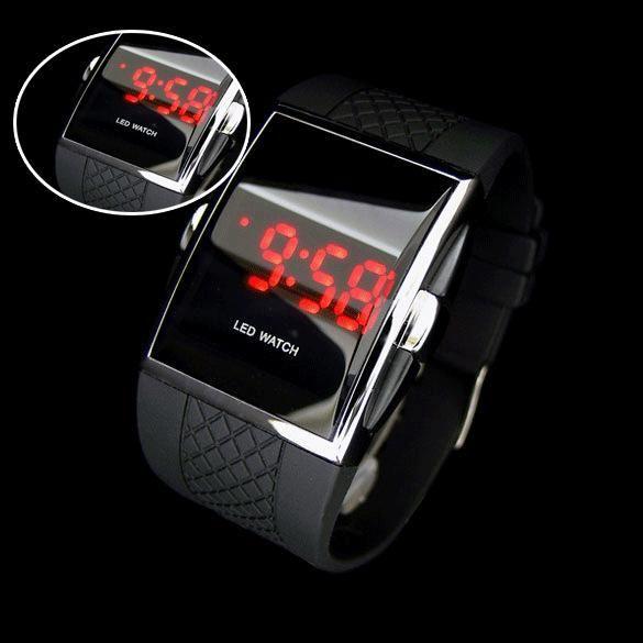 2017 New Fashion Digital Watch Watertight Black Digital LED Wrist Watch High Quality Women Gifts For Men watches Clock PT