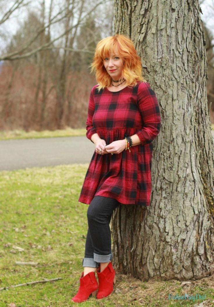 Buffalo Plaid Tunic & Black Skinny Jeans: Sky Beasts - Fashion Fairy Dust