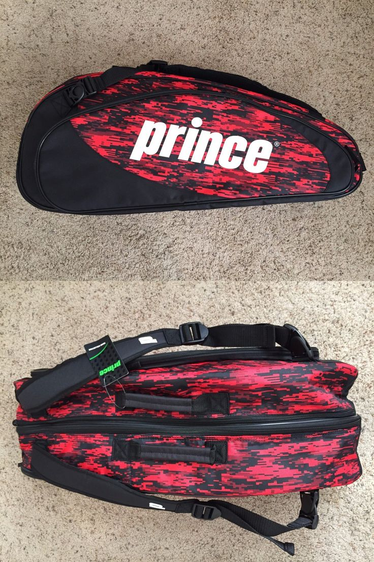 Bags 20869: ***New*** Prince Team Black Red 6 Pack Tags Still Attached!!!!! -> BUY IT NOW ONLY: $44.99 on eBay!