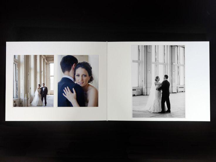 Queensberry Wedding Album  |  Mana & Sepehr  |  15x12 Duo  |  Krista Fox Photography, Toronto, Canada  |  #weddingalbum #firstlook