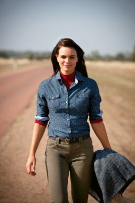 beautiful Australian woman in the outback wearing RM Williams clothing which originated from Adelaide city South Australia • Adelaide's icons
