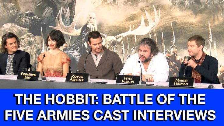 The Hobbit 3: The Battle of the Five Armies Cast Interviews. I am going to cry when this final movie finishes.