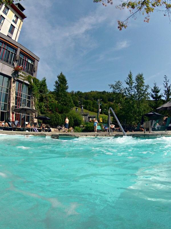 The beautiful Fairmont Mont Tremblant ski in ski out pools!
