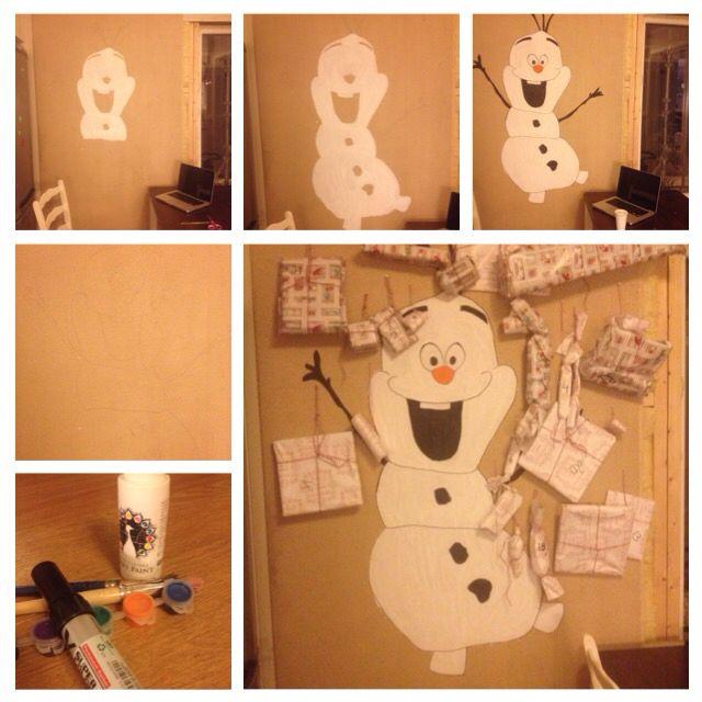 Pakkekalender/adventskalender/ DIY/ Olaf/ Frost/Frozen