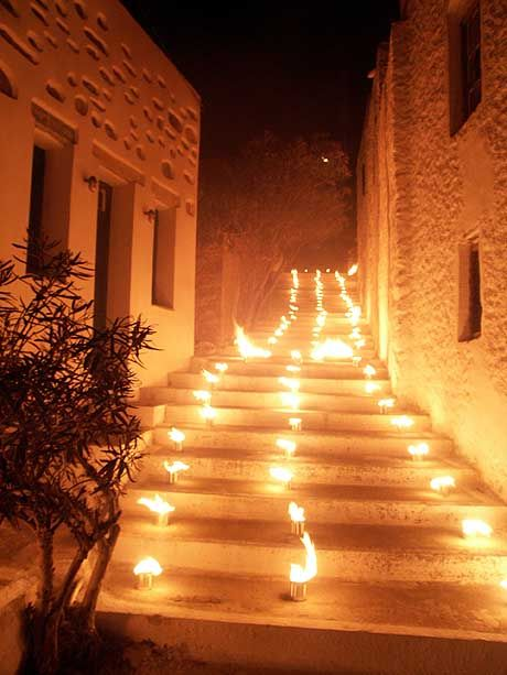 street-fires during Easter, Amorgos, Greece