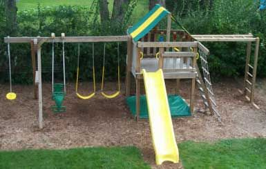 outdoor playsets with monkey bars plans | Fort Swing Sets with Monkey Bars