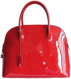 Dome Red Patent Leather Handbag