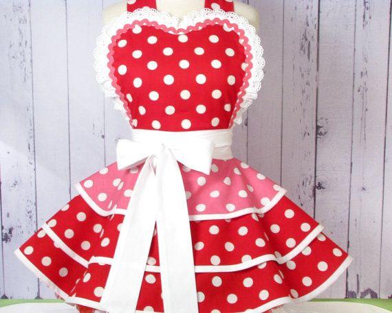 Cherry Bubblegum Valentines Day Apron