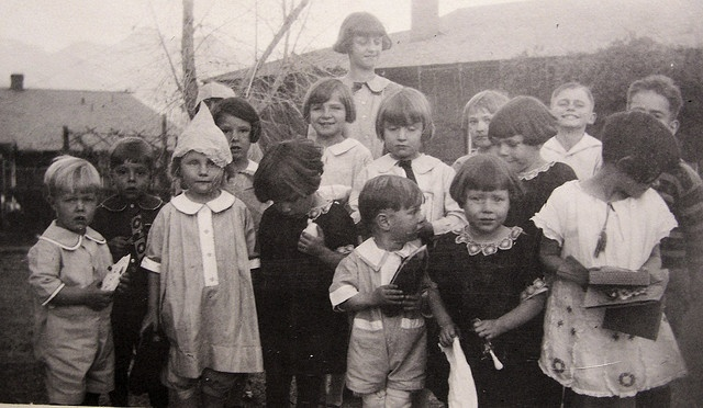 """""""Home Children"""" British orphans sent to Canada as farm labour. My father was 12 when he came to Canada and was sent to live on a farm in Brockville, Ontario. He was treated fairly, unlike many others."""