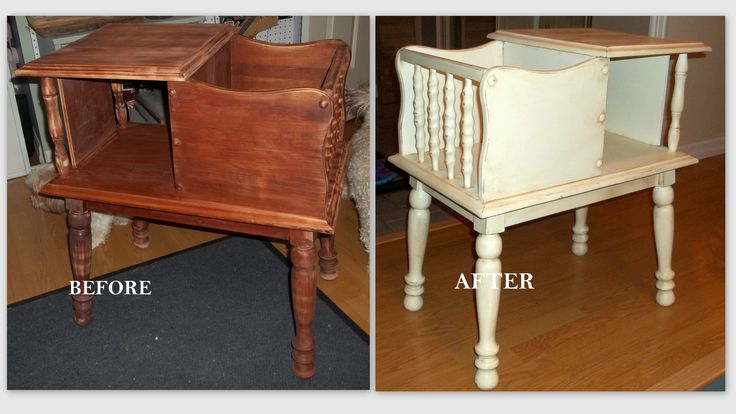 Telephone table using Old White Annie Sloan Chalk Paint
