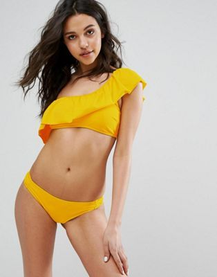 Vero Moda Ruffle One Shoulder Bikini