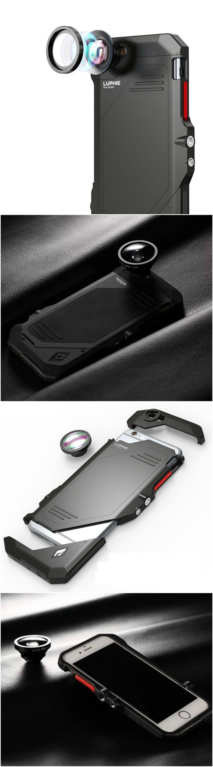 Newest iPhone 6 6S Plus fashion fish eye wide angle lens slim case with style for the savvy users. Fits well into workout and gym clothes. Great gift home accessory products for Apple iPhone 7 Plus owners, gizmos lovers, current smartphone and cellphone owners, shoppers who o are active in health and fitness and travel  #tech