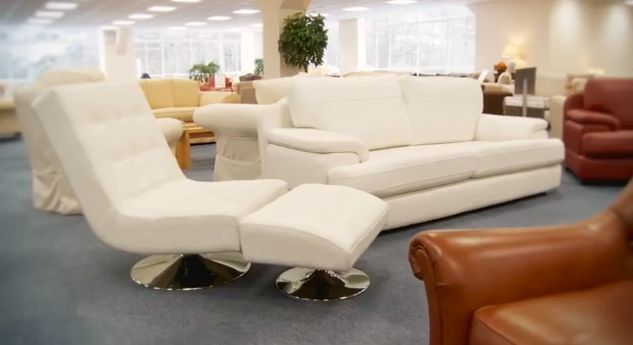 Beau The Marino Leather Swivel Chair, Footstool And Leather Sofa, All In White    Also Available In Black, Pebble And More.   Sofasofa Showroom   Pinterest  ...