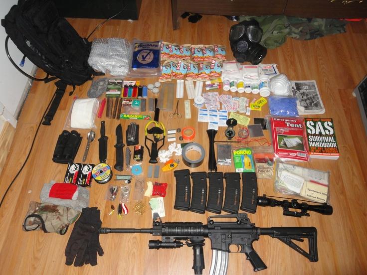 Survival Kit Bug Out Gun : A sample bug out bag layout wilderness pinterest