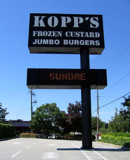 Kopp's Frozen custard in Milwaukee, Wisconsin has THE best custard on the planet. Although there are multiple locations, the one on 76th Street is the best.
