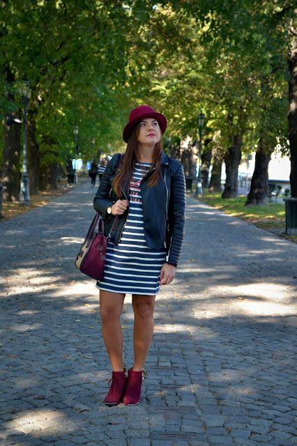 vixen fashion, jadwiga lis, podkarpackie blogerki, czarna ramoneska, burgundowe dodatki, stylizacja na jesień