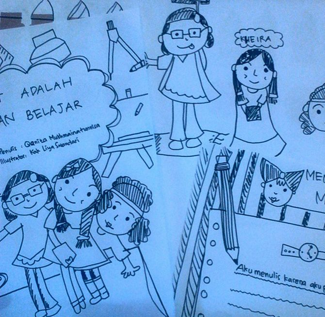 ilustration for klien. She is 6th years old. Amazing!