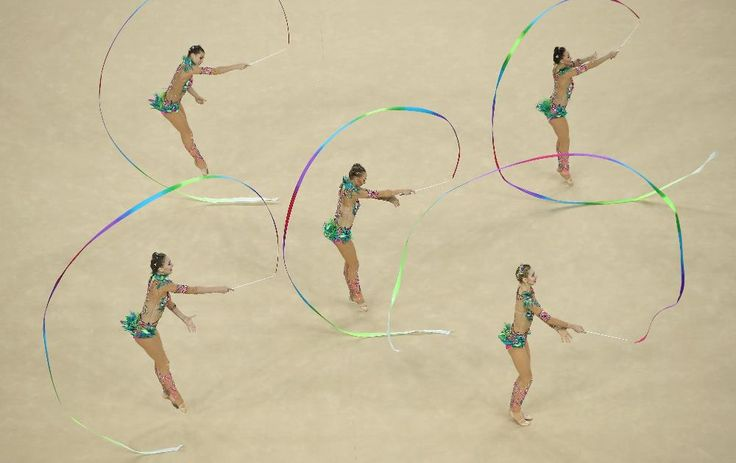 Russia rallies for gold in rhythmic gymnastics group final, Spain wins silver