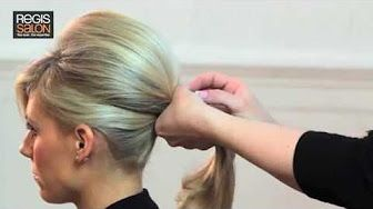 Smooth Elegant Volumized Chignon without Heat (Long/Medium Hair) - YouTube