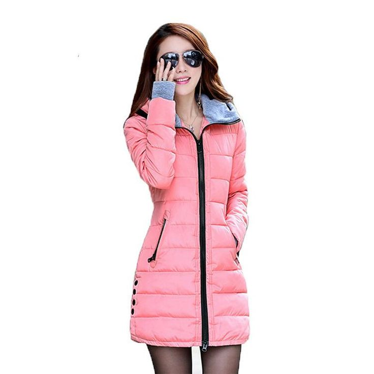 2017 New Fashion Hooded Cotton-padded Clothes Down Coat Pink Anorak Jacket Women Loose Coat Female Winter Windbreaker Bomber