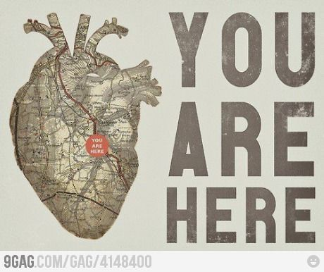 You Are Here (in my heart map)