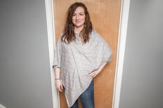 DIY poncho-style nursing cover. Uses just one yard of jersey knit fabric and only one seam!