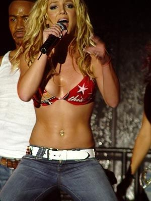britney spears  me sreaming go britney and my dad sreaming where the hell is her shirt