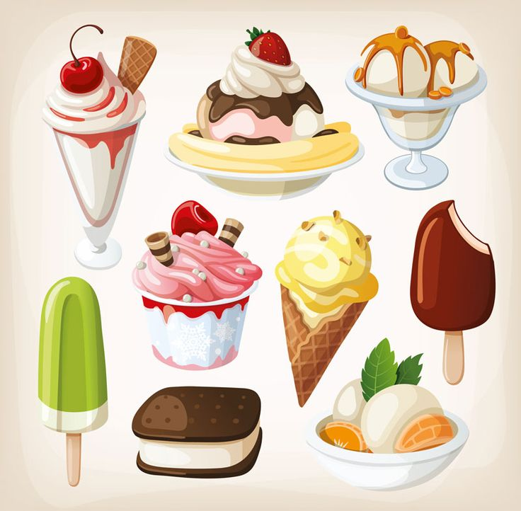 Vector ice-cream images