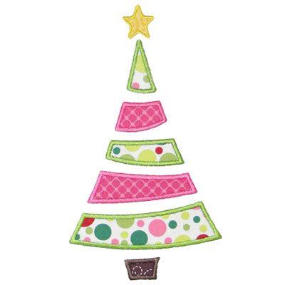 xmas tree shape idea - Christmas Tree Applique