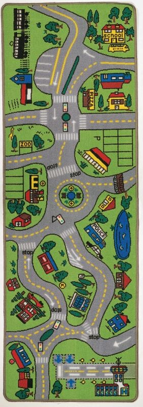 Giant Road Play Carpet by Learning Carpets - RosenberryRooms.com